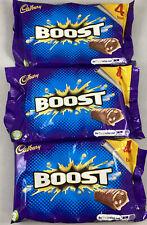 3x Cadbury Boost Bar Chocolate 4 Pack 160g x 3