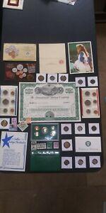 Big COIN LOT Proof set Railroad Mint Coins World Coin Lot COWBOYS no junk drawer