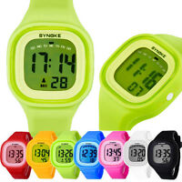 Silicone LED Light Digital Sport Wrist Watch Kid Women Girl Watch Men Boy Watch