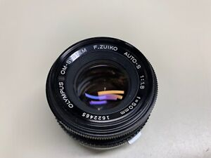 OLYMPUS OM SYSTEM 50MM F/1.8 LENS *CLEAN GLASS* NICE