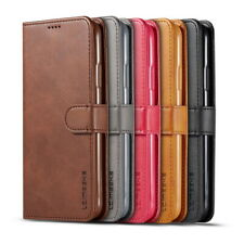 For iPhone 11 Pro Max XS 7 Plus Genuine Leather Wallet Case Card Slot Flip Cover