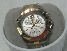 Tag Heuer 18K Gold, SS Silver Dial CN1151 Chronograph watch extra links box
