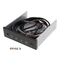 2x USB3.0 Front Panel ansion Bay Hub with HD AUDIO 3.5mm & Power Switch