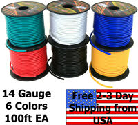 14 Gauge Ga 6 Color Copper Clad 12V Automotive Trailer Hook Up Auto Primary Wire