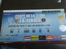 Ticket Billet PSG-LENS 2-1 Finale Coupe de La Ligue 2007/2008
