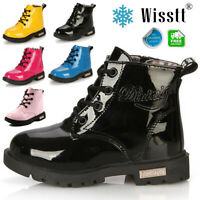New Baby Girls Boys Kids Winter Thick Snow Boots Leather Shoes Size 7 8 9 10 13