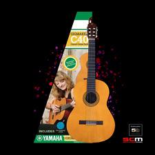 Yamaha Gigmaker C40 4/4 Classical Nylon String Guitar w/ Tuner & 5 Year Warranty