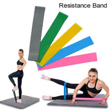 Resistance Band Loop Yoga Pilates Home GYM Fitness Exercise Workout Training Hot