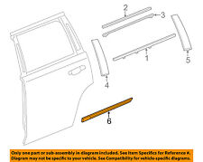 Cadillac GM OEM 15-18 Escalade REAR DOOR-Body Side Molding Left 23264122