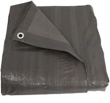 Sunnydaze 12x16 Heavy Duty Uv Resistant Tarp - Outdoor Reversible Dark Gray