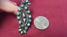 Beautiful Vintage Turquoise Long Southwest Ring 925 Sterling Silver Size 6 F130