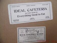 1920s Ideal Sandwich Shop Cafeteria Cincinnati Ohio Advertising Ink Blotter Lot
