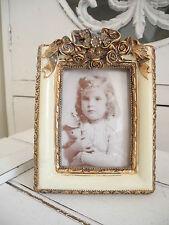 gr. Bilderrahmen Clayre Eef  rechteck antik antikweiß creme gold shabby chic