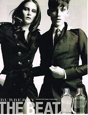 PUBLICITE ADVERTISING    2011   BURBERRY   collection boutique parfum THE BEAT
