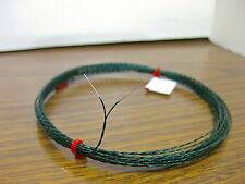 25 feet solid 30 AWG Silver Plated Wire Tight Twisted Pair Black Green