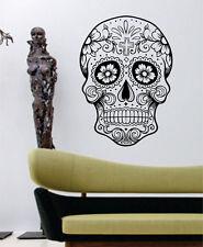 Tall 60CM Removable Sugar Skull Vinyl Wall Paper Decal Art Sticker X840