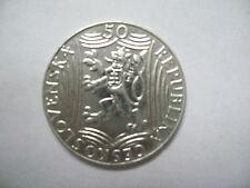 50 Korun Crowns CZECHOSLOVAKIA 1949 Ag TSCHECHOSLOWAKEI TCHÉCOSLOVAQUIE