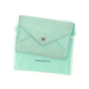 Tiffany & Co Card Case Blue Woman Authentic Used E958