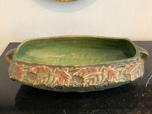 "Roseville Circa 1930's Blackberry Art Pottery Console Bowl 13 1/4"""