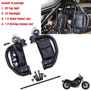 Fit Honda Rebel Cmx 300 500 17-21 Black Engine Guard Crash bar Fairings Package