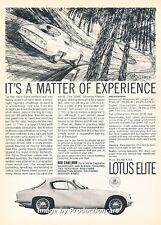 1963 Lotus Elite Original Advertisement Print Art Car Ad J660