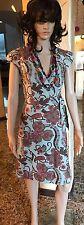 Tommy Hilfiger Sleeveless Floral Wrap Dress Women's Sz XS Gray