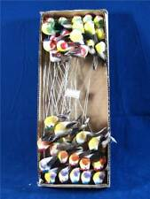 12 Artificial Feather Birds On Thin Wire Stem 3641