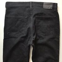 Mens M & S Straight Fit Faded Black Jeans Size 34 S W34 L29 (646)