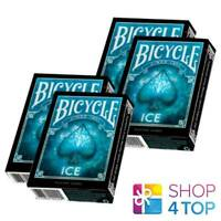 4 BICYCLE ICE  SPIELKARTEN DECK MADE IN USA ORIGINAL BLAU GLAZIAL POKER NEU