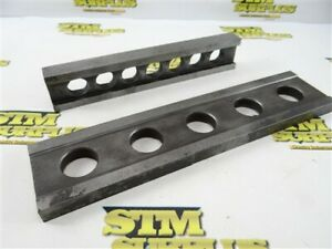 """TWO MACHINISTS PARALLELS 3/4"""" X 1-1/2"""" X 8"""" & 17/32"""" X 1-3/8"""" X 10-1/2"""""""