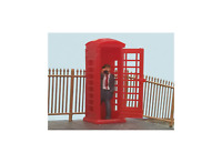 Modelscene 5005 OO Gauge Telephone Box and Caller