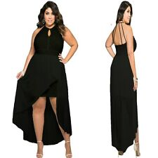 Sz 16 18 Black High Low Lace Cocktail Dance Evening Party Sexy Gown Chic Dress