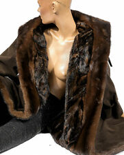 L marrone cappotto pelliccia visone foraggio CAPPOTTO VISONE Pelliccia Mink fur lining coat ALCANTARA