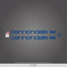 01031 Adesivi Bicicletta Cannondale Track-Decalcomanie-Trasferimento-Blu