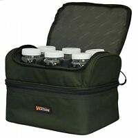 Chub Fishing Vantage Pop Up & Bait Bag with 6 Hook Bait Pots, Insulated Bottom