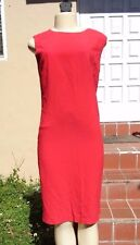 BURBERRY LONDON RED SLEEVELESS FITTED DRESS Sz 10 MADE IN ITALY