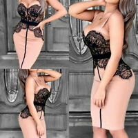 Evening Lace  Club  Women Bodycon Sexy Party Short Mini Dress Cocktail Bandage