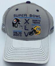 NFL Pittsburgh Steelers vs Green Bay Packers Super Bowl XLV 45 Reebok Adult  Hat 8fe8c13eb