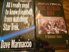 The Klingon Way + All I really need to know I learned from watching Star Trek
