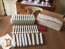 Vintage Nos Christmas Tree or Village Wood Picket Fence Cottage Chic Farmhouse