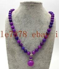 14mm Pendant Necklace 20'' Aaa Fashion 10mm Purple Sugilite Gemstone