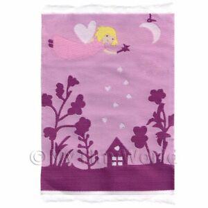 Miniatura para Casa de Muñecas Pequeño Rosa Fairy Escena Niños Alfombra