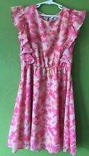 New DKNY Girls Pink Dress Size L Large Youth Summer
