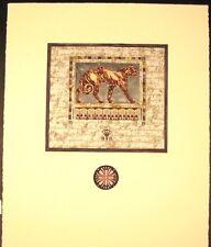 "Original Mixed Media Mono Print by Annrika McCavitt ""Royal Guardians I"""