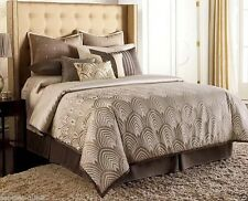 JLO Jennifer Lopez GATSBY Size: QUEEN NEW Comforter ONLY Brown Ivory Jacquard