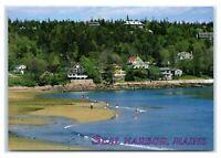 Postcard Seal Harbor, Maine beach sand ME MS465