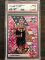 2019-20 Panini Mosaic Stephen Curry Pink Camo PSA 10 USA Basketball