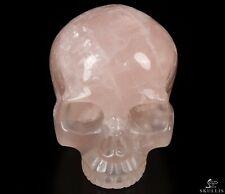 "4.5"" ROSE QUARTZ Carved Crystal Skull, Realistic, Crystal Healing"