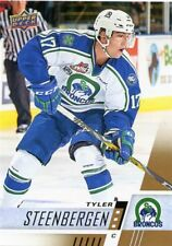 17/18 UPPER DECK CHL #104 TYLER STEENBERGEN SWIFT CURRENT BRONCOS *48640