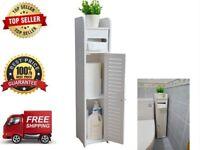 Small Bathroom Storage Corner Floor Cabinet with Doors